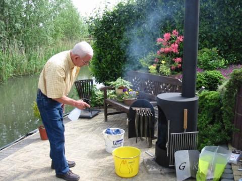 Garden kitchen paling roken