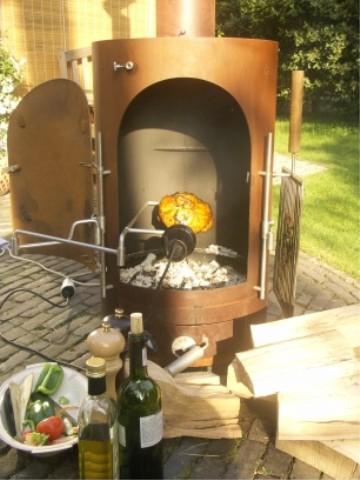 braadspit garden kitchen buiten keuken kip aan het spit